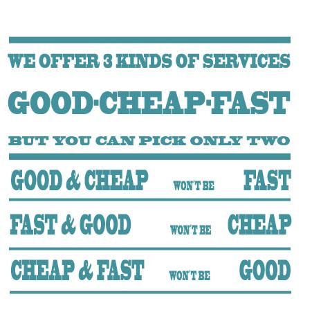 bueno barato y rapido