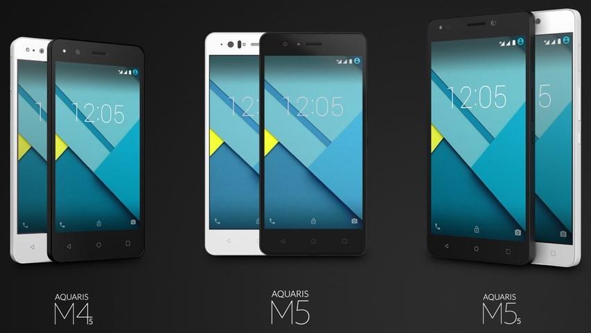 Nuevos dispositivos BQ serie Aquaris M