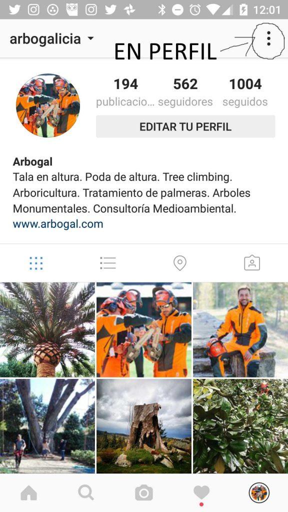 añadir cuenta de instagram paso 1