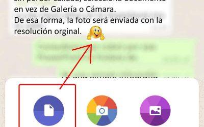 Enviar fotos con calidad desde Whatsapp