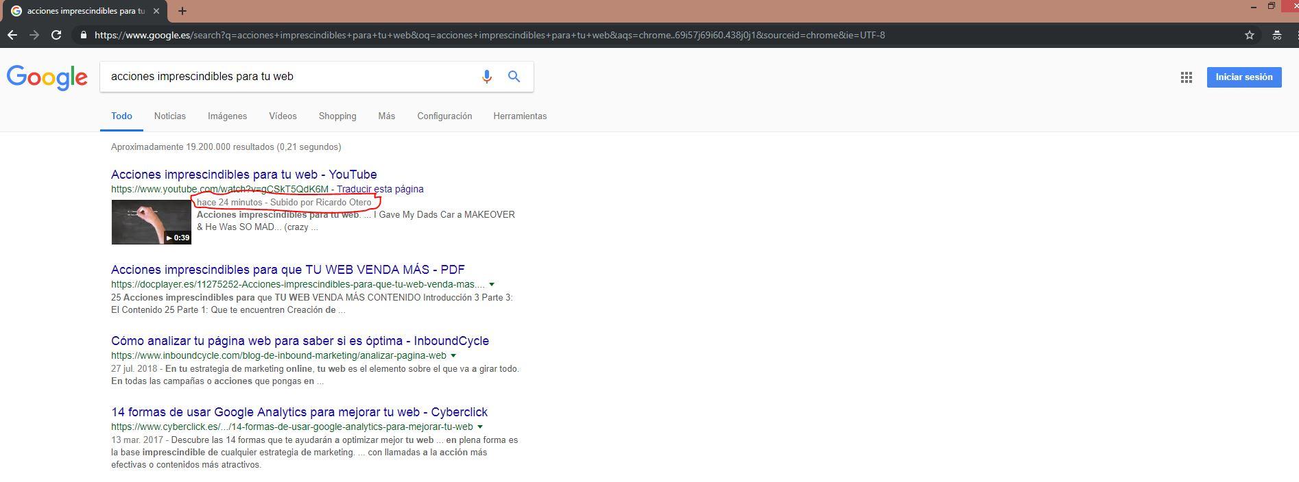 acciones imprescindible para tu web en google