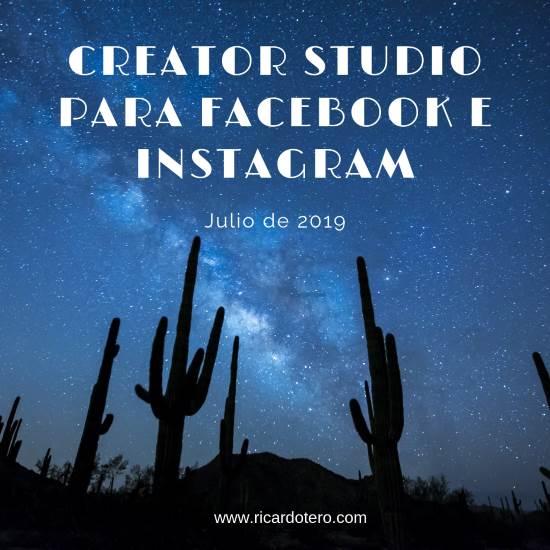 creator studio para facebook e instagram