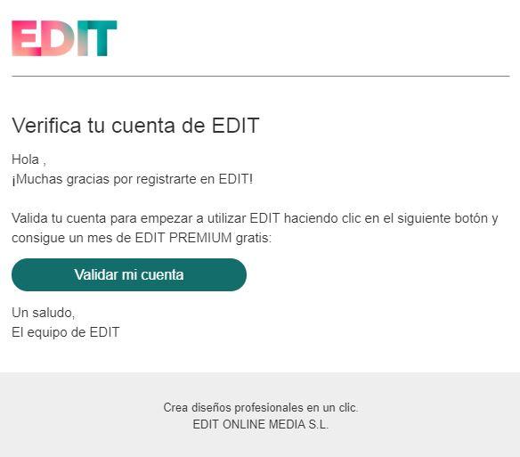 edit validar cuenta