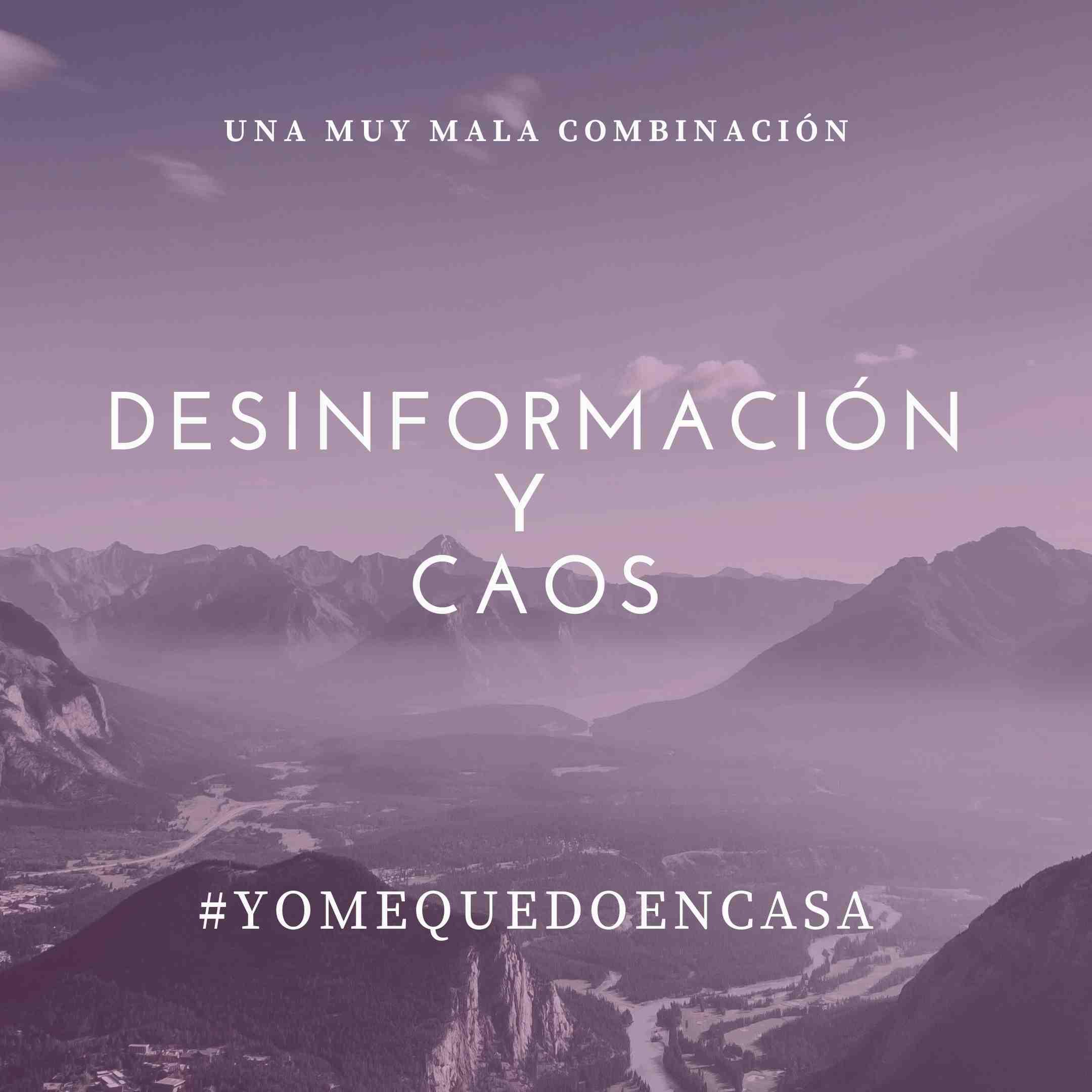 Desinformación y caos