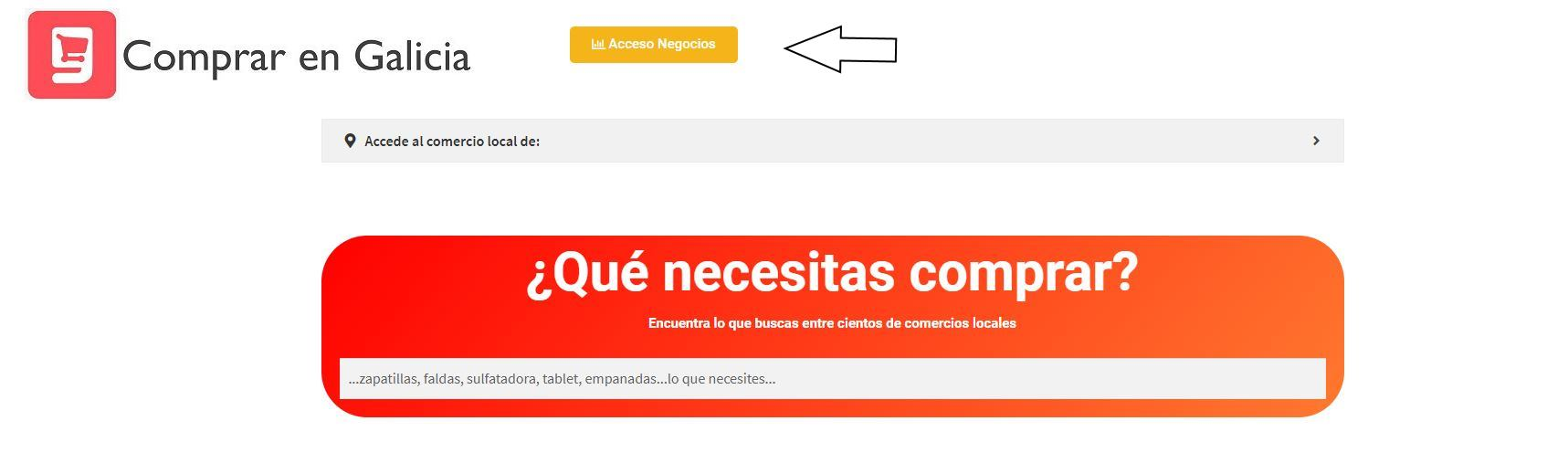 comprar en galicia acceso negocios